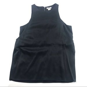 Helmut Lang Silk Double Layer Sleeveless Blouse
